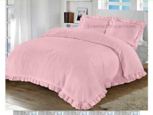 Get 10% flat discount on Ruffle Santiago Frill Duvet Quilt Cover Set With Pillowcase.