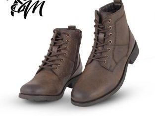 EXPLORER TEXTURED LACE-UP ZIP ON BOOTS