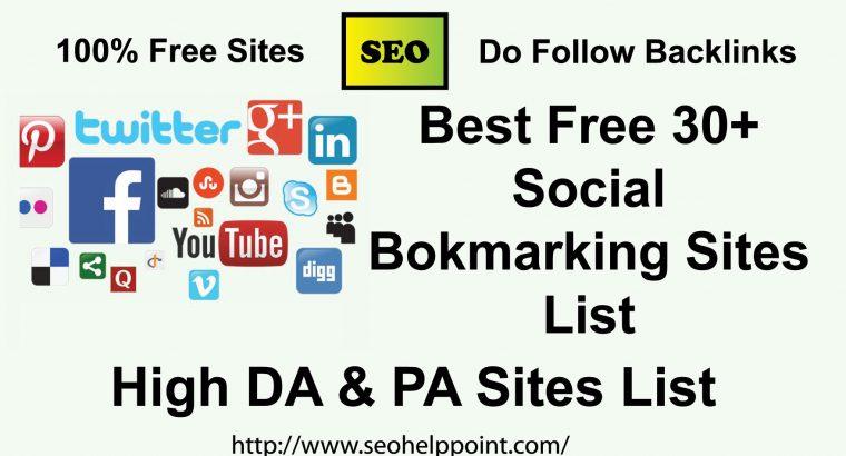 High PR Dofollow Social Bookmarking Sites for SEO