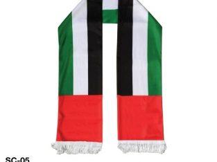 UAE National Day Flag Satin Scarf