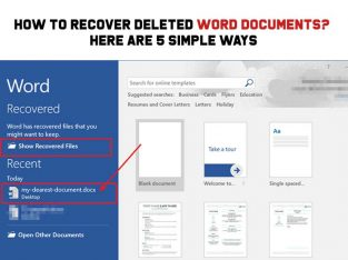 How to recover delete word documents
